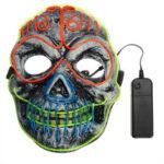 Оригинал              Скелет Маска EL Провод Light Up Череп Маска для аксессуаров для костюмов на Хэллоуин